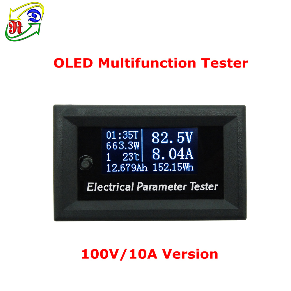 RD 100v/10A 7in1 OLED Multifunction Tester Voltage current Time temperature capacity voltmeter Ammeter electrical meter white(China (Mainland))