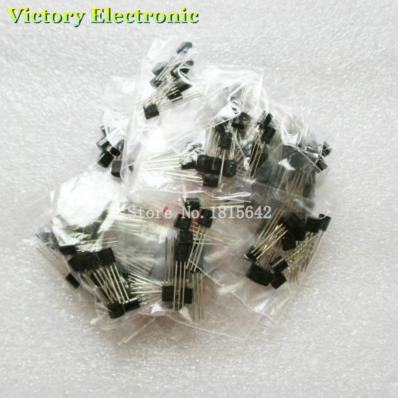 170PCS Transistor Assorted KitS9012 S9013 S9014 S9015 S9018 A1015 C1815 A42 A92 2N54012N5551 A733 C945 S8050 S8550 2N3906 2N3904(China (Mainland))
