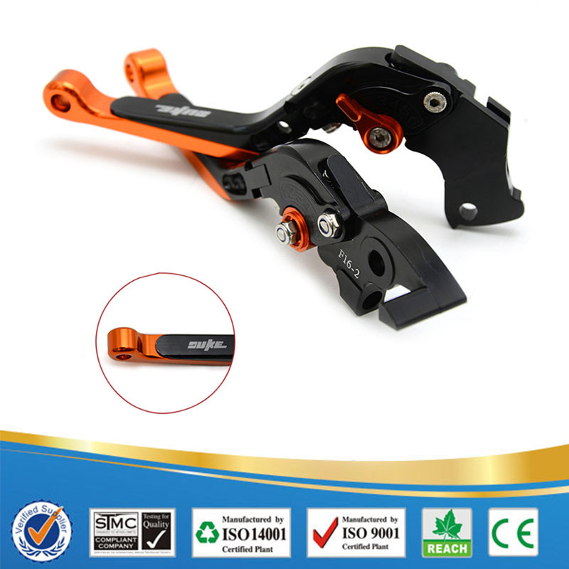 "For KTM 390 Duke/RC390 2013-2017 CNC Aluminum With "" DUKE"" logo Folding & Adjustable&Extenable Motorcycle Brake Clutch Levers"