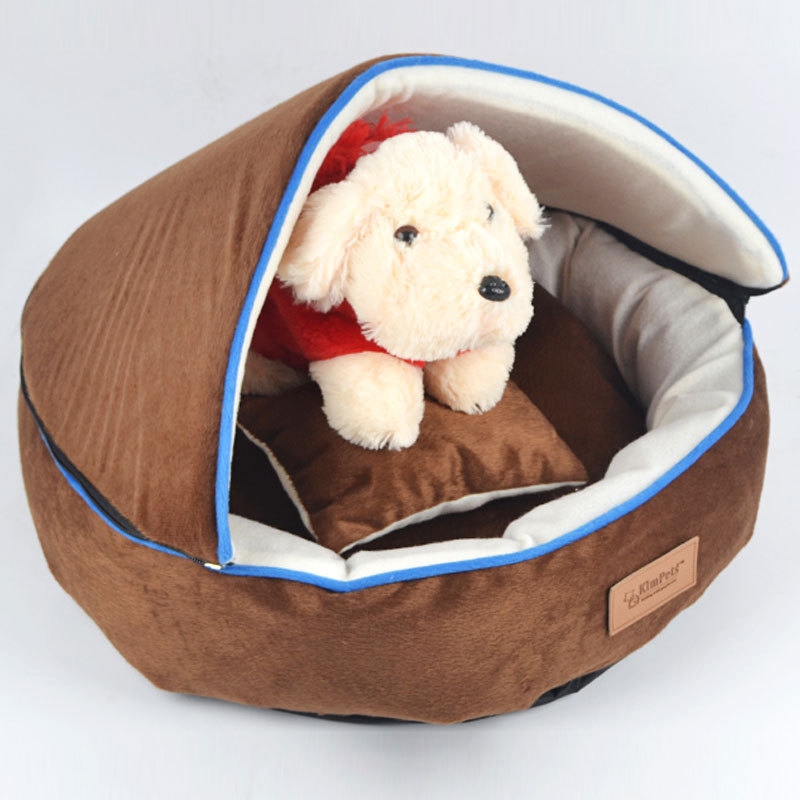 Dog Beds Detachable Washable Soft Pet Beds Kennels for Dogs Cats Detail Designed Warm&Safe for Puppy Dogs Free Shipping(China (Mainland))