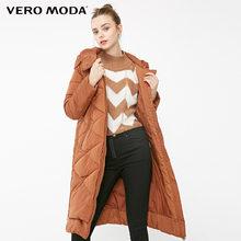 Vero Moda новый с капюшоном съемный рукав боковой молнии длинный пуховик женский   318312502(China)