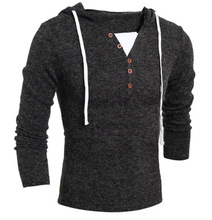 Free Shipping 2016 New Men Casual Long Sleeve V-neck Knitwear Mens Autumn Slim Fit Sweater Solid Jumpers Pattern Coat 13M0336(China (Mainland))