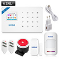 2017 W18 WIFI GSM SMS Home Burglar Security Alarm Systems PIR Motion detector Touch Screen Alarm