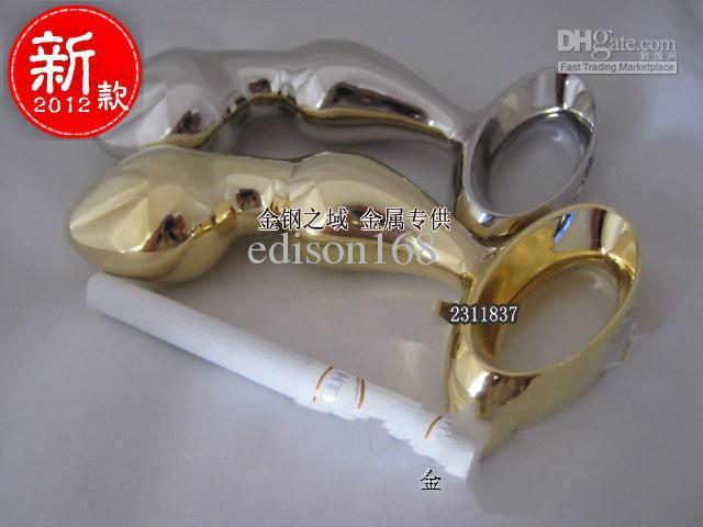 Wholesale - B345 anal toys Metal Butt Plugs,anal bead,anus Toys,Adult Sex Toys for unisex/silver,gold