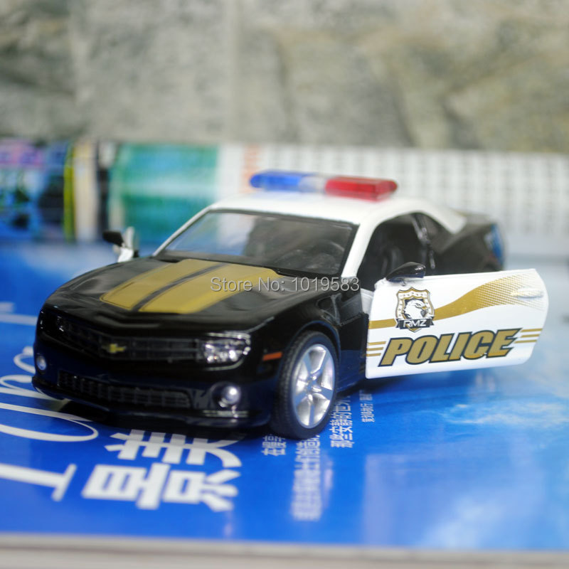 (5pcs/pack) Wholesale UNI 1/36 Scale Car Model Toys 2010 Chevrolet Camaro Police Edition Diecast Metal Pull Back Car Toy<br><br>Aliexpress