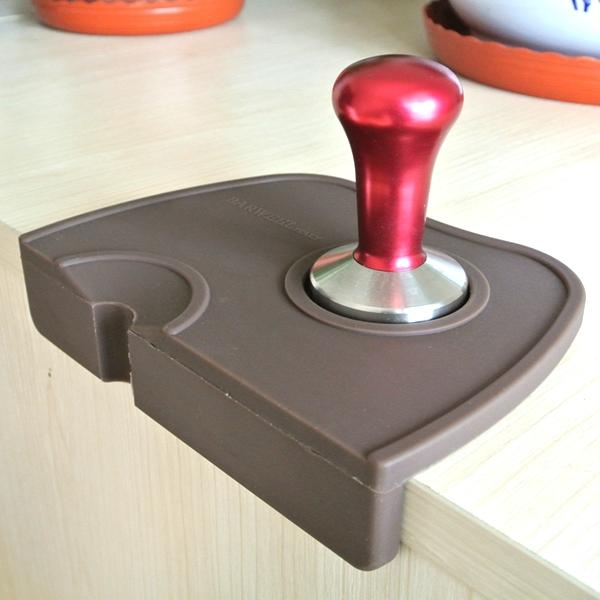 1PC Espresso Coffee Tamper Mat Silicone rubber tampering corner mat