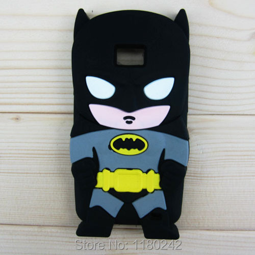 Samsung i9100 Galaxy SII S2 3D Batman Hero Black Silicone Soft Cover Back Phone Case - Beautiful Retail stores store