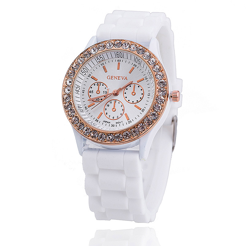 Гаджет  Free shipping New Fashion 14 colors Ladies GENEVA Watch Classic Gel Crystal Silicone Jelly watch 1piece/lot (min order is 4$) None Часы
