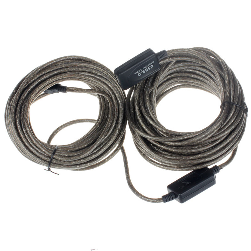 SimpleStone 20M USB 2.0 Active Extension Repeater Cable Signal Boost Male to Female 60518(China (Mainland))