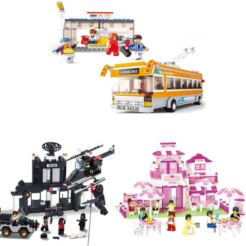 DIY Educational Toys children Building Blocks restaurant girl self-locking bricks Compatible Lego - zhichao shaw's store