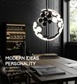 Modern Simple AC85 265V LED Grand Semi Glode Lunar Aluminum Acrylic Pendant Lights For Foyer Parlor