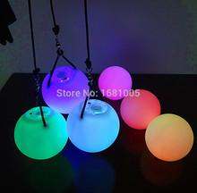 2015 Hot selling women led poi thrown balls for accessories hand belly dance props on sale Wholesale including batteries
