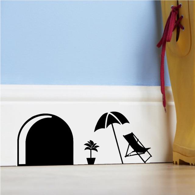 3d забавный комикс мышь разрез для kidsroom стена украшение для дома отличительные знаки украшение наклейки 358 съёмный стена фрески