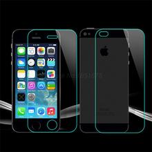 Ultra Thin 0.2mm Explosion-Proof Front & Back Tempered Glass Screen Protector Film for Apple iPhone 5 5G 5S SE