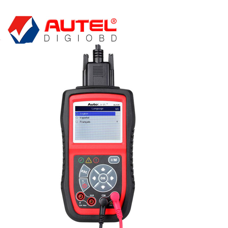 Autel Electric Test OBDII CAN Diagnostic Scanner AutoLink AL539B with AVO Meter Diagnose battery charging system Battery Test(China (Mainland))