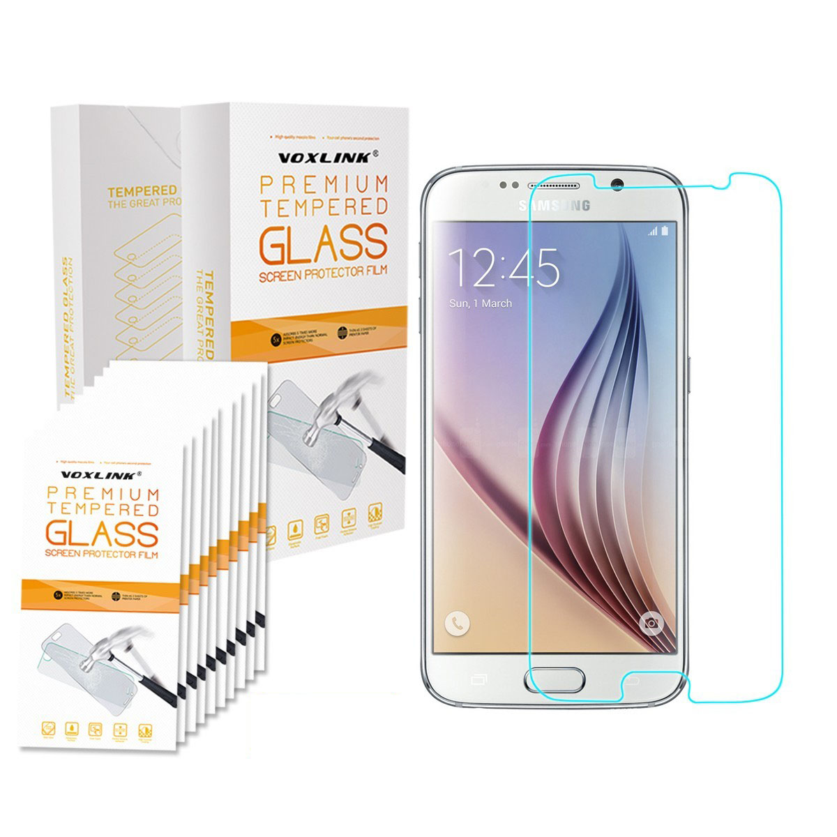 Retail Box 2.5D HD Premium Tempered Glass Screen Protector For Samsung Galaxy S6 S5 S4 S2 S3 Note 2 3 4 5 Grand Prime(China (Mainland))