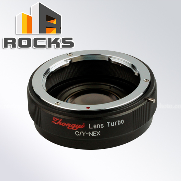 Zhongyi Focal Reducer Speed Booster Lens Mount Adapter Suit For Contax Yashica Lens to Suit For Sony E Mount Camera NEX A5100<br><br>Aliexpress
