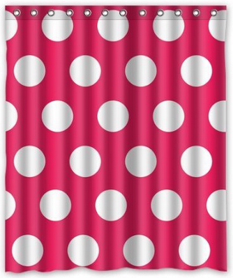 2014 new modern custom polka dot shower curtain red 60 quot x 72 quot bathroom