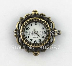 6PCS Antiqued Bronze Ornate ROUND Watch Face 29mm charm #20952
