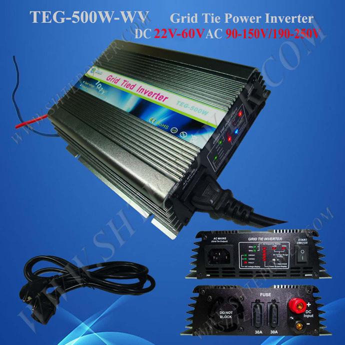 500w Grid Tie Solar Inverter, DC 22V~62V Input, AC 230V Output, On-grid Inverter(China (Mainland))