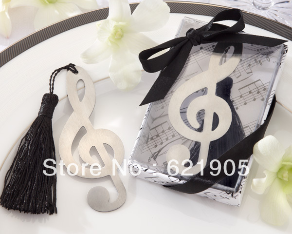 Delicate (20pcs)  Stainless Steel Musical Notation Bookmark  for Wedding Gifts and Wedding Favors Wholesale and retail