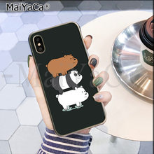 Maiyaca Kami Telanjang Beruang Miniso Unik Mewah Silicon Ponsel Case untuk iPhone 8 7 6 6S Plus X XS MAX 10 5 5S SE XR Coque Shell(China)