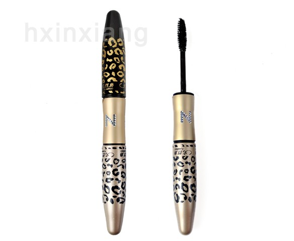 2014 New arrival brand Eye Mascara Makeup Long Eyelash Gel Fiber curving lengthening colossal mascara Leopard 10(China (Mainland))