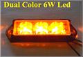 High intensity Dual color 6 Led car grill warning lights police lights strobe emergency lights lightheads