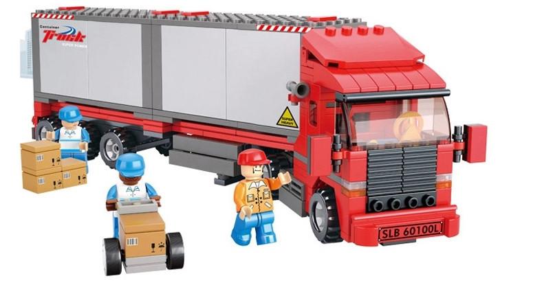 Model Building Blocks Retail Sluban City Trailer Truck Van Plastic Children Bricks Toys Compatible Lego box - TOYTime Co., Ltd. store