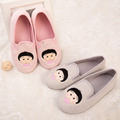 2015 autumn and winter warm sweet large bow Lolita wind Home Furnishing boots month pregnant women shoes women shoes shoes