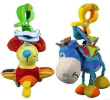 2015 New hot 15cm  Brand Funny toys little donkey mouse bed lathe hanging rattles pull shock baby toy 0-12month free shipping(China (Mainland))