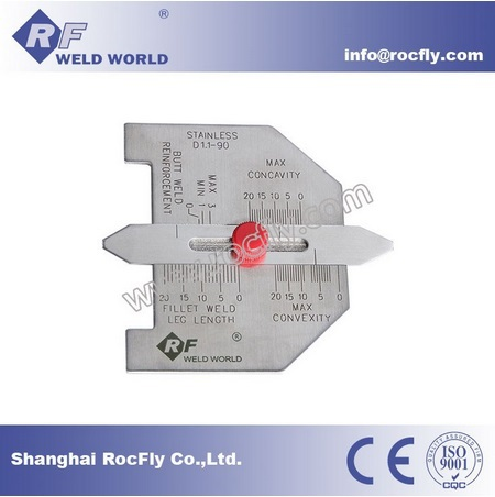 WG-03ASG CAT #6 Automatic Weld Size Weld Gauge Stainless Steel Welding Inspection Gage(China (Mainland))