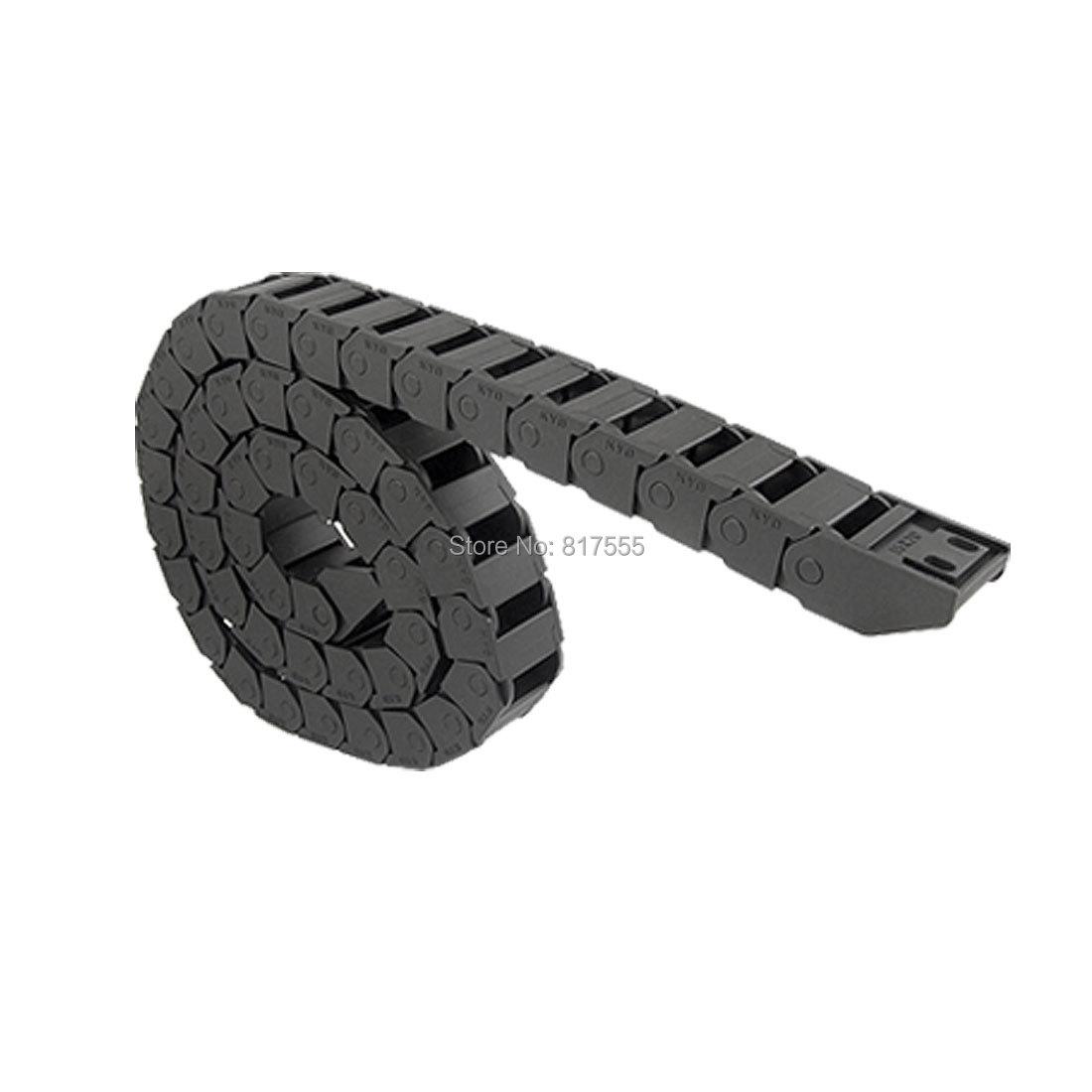 Machine Tool Plastic Towline Drag Chain Black 15 x 20mm
