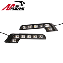 Mzoom For Smart Fortwo LED Day Lighting DAY DRIVING LAMP Daytime Running Lights Fog Lamps DRL New Arrival(China (Mainland))