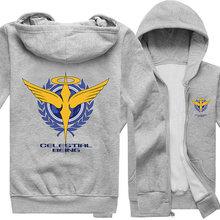 2016 Special Offer Free shipping Regular Novelty New Mobile Suit Gundam Cosplay Unisex Zipper Hoodies Sweatshirts Men Coat