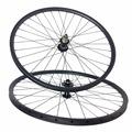 Ultra light carbon bicycle wheels 29inch 27er 27X23mm tubular clincher mountain bike wheelset quick release Thru
