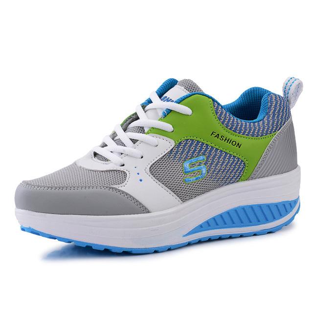 Новое поступление женщин свободного покроя обувь 2015 качели для похудения обувь ...