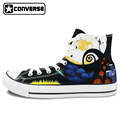 The Nightmare Before Christmas Men Women Converse Shoes Man Woman Sneakers Jack Skellington Design Custom Hand