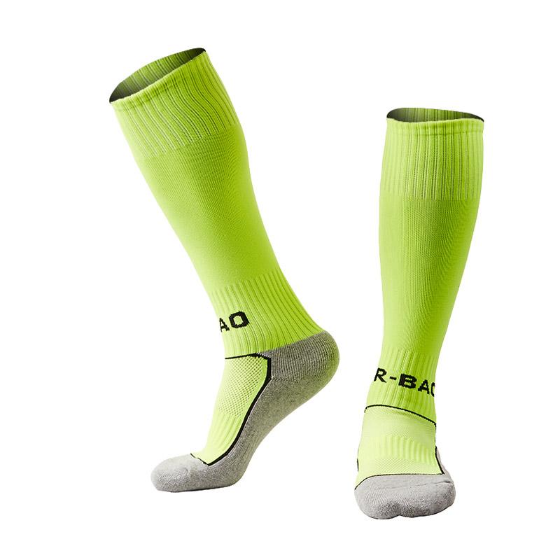 Sports Cotton Football Socks Kids Boy Knee High Thick Socks Children For 8 To 13 Years(China (Mainland))