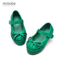 mr.baby spring and autumn 2016 new girls bow shoes Princess models flounced hollow shoes