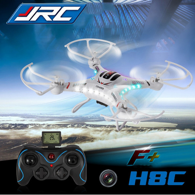 Free Shipping JJRC H8C 2MP Camera 4CH white black color UAV Drone Kit Quadcopter F183 RC Helicopter with camera HD kids toys(China (Mainland))