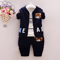 2016 Brand New Baby Boys Clothing Set Autumn Fashion Style Cotton Coat with Pants Baby Clothes