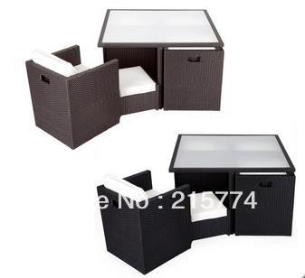 Outdoor Garden Rattan Furniture Deluxe Patio Cube Set Wicker Weave Conservatory