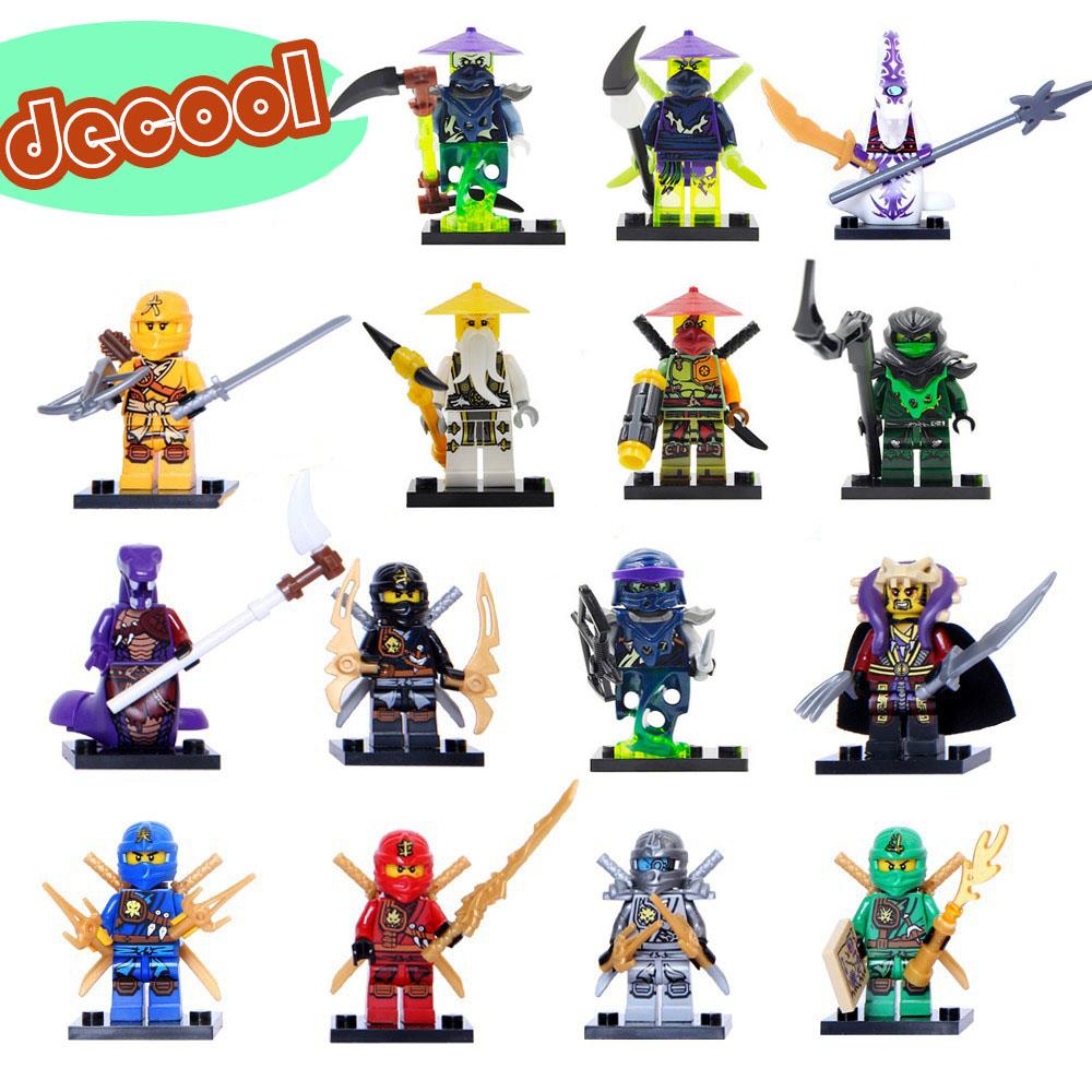Гаджет  Ninja Minifigures Justice League Hat Jay Mater Chan Pythor Cole Skyer Ninja Figures Building Blocks Model Toys  Lego Compatible None Игрушки и Хобби