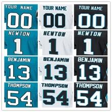 100% Stitched With Customized #1 Cam #13 Kelvin #54 Shaq #58 Thomas #59 Luke #88 Greg Men's Elite Jersey White Blue Black Jersey(China (Mainland))