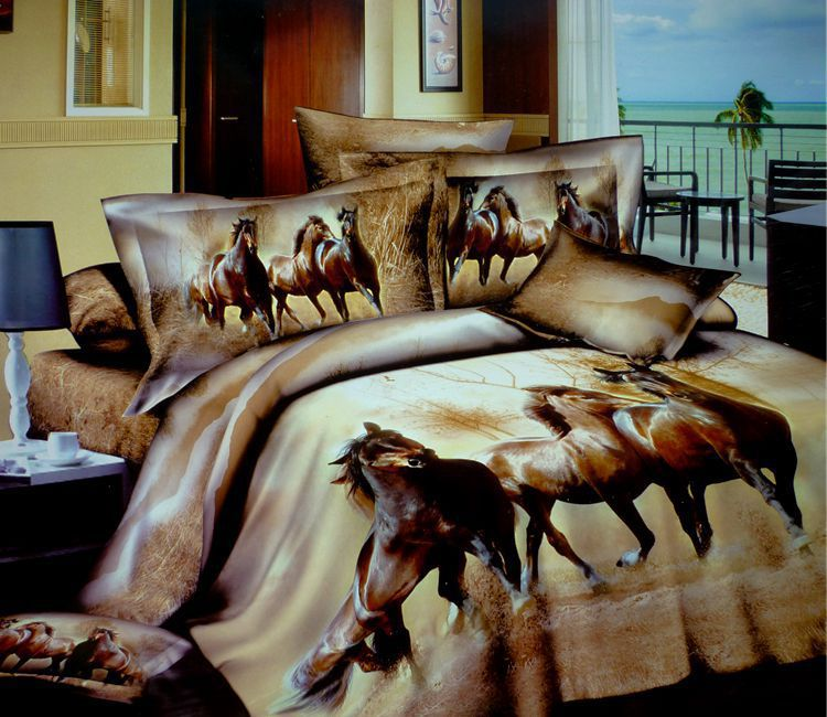 3d horse design patterns print bedding sets queen size for Wallpaper sheets for sale