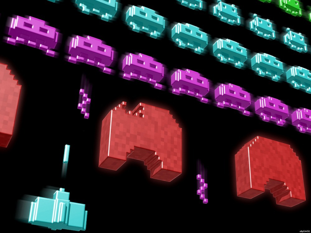 """Space Invaders Arcade Retro Video Game printing wall poster 24""""x32""""wbp04456(China (Mainland))"""