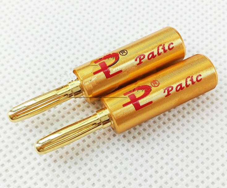 50pcs pailiccs banana plug copper gold plated banana head speaker cable connector/adapter<br><br>Aliexpress