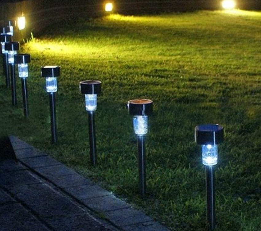 set outdoor garden led outdoor path lighting landscape solar light. Black Bedroom Furniture Sets. Home Design Ideas