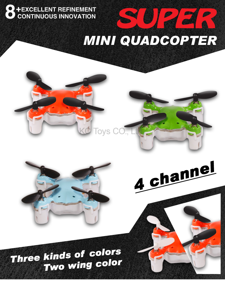 Quadrocopter Dron NANO.1 Pocket Drone 4CH 6Axis Gy...